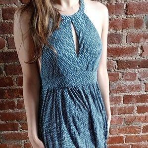 Ecoté blue patterned dress